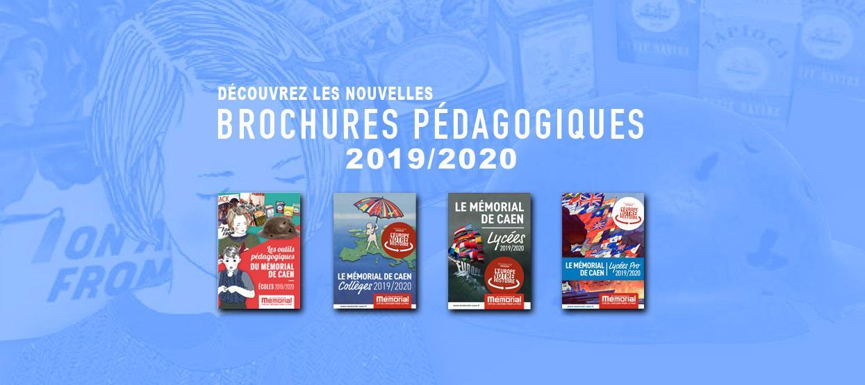 Découvrez les nouvelles brochures pédagogiques 2019/2020