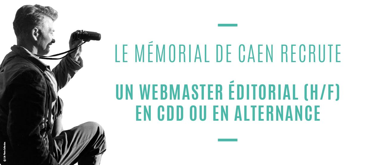 Offre emploi : webmaster éditorial (H/F)