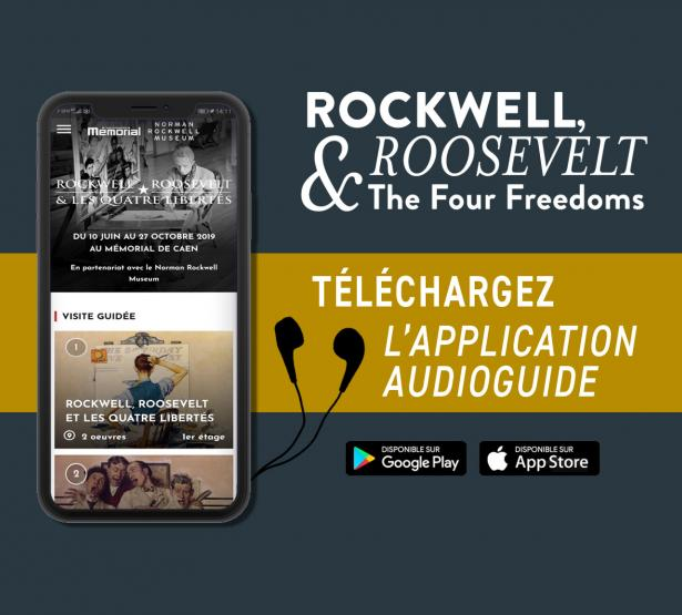application audioguide de l'exposition Rockwell