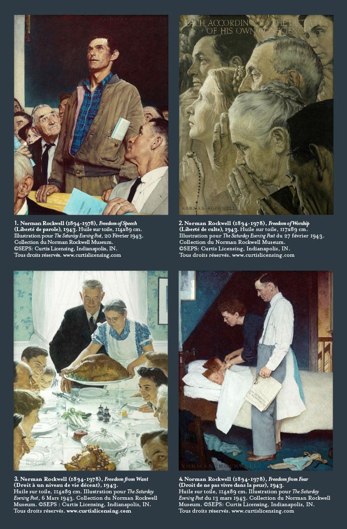 Les 4 libertés de Norman Rockwell