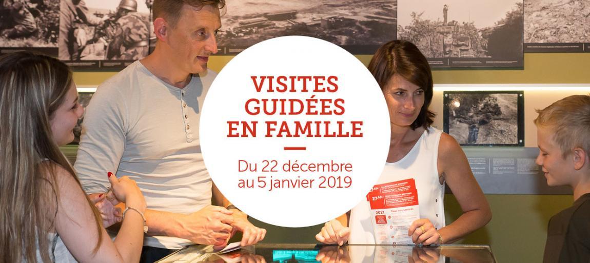 Visites guidées en famille, du 22 décembre au 5 janvier 2019