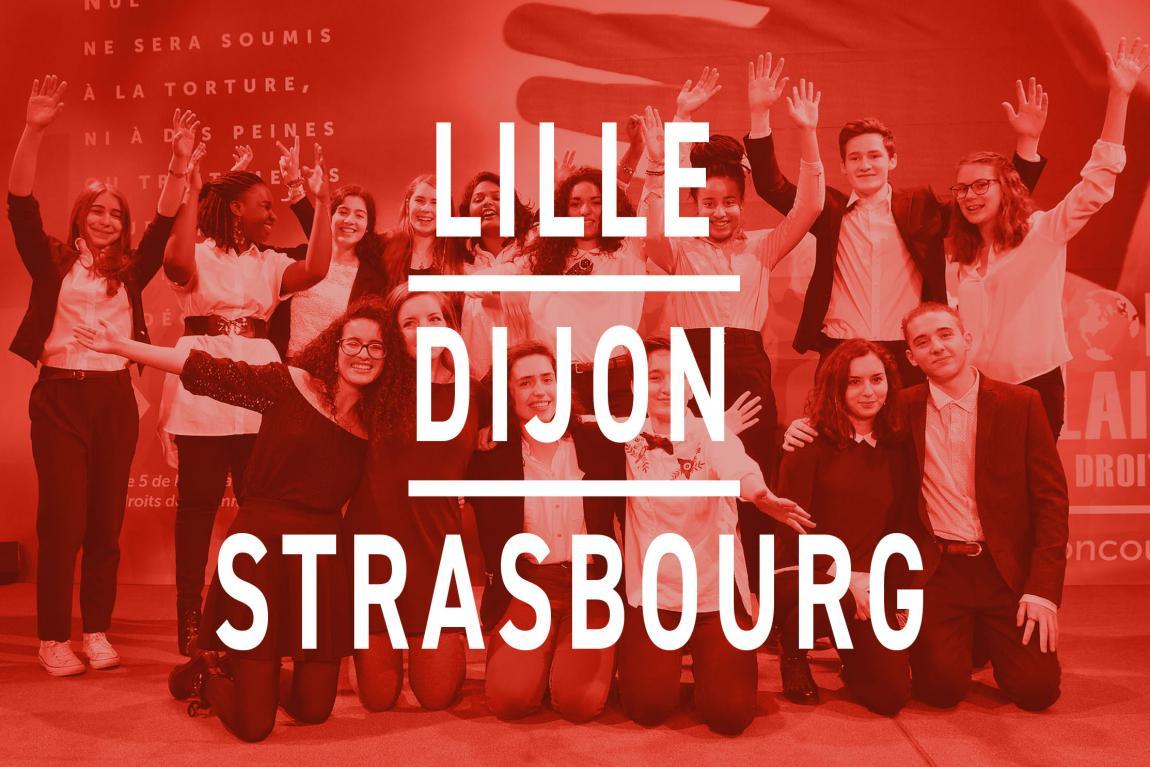 Les finalistes de Lille, Dijon, et Strasbourg