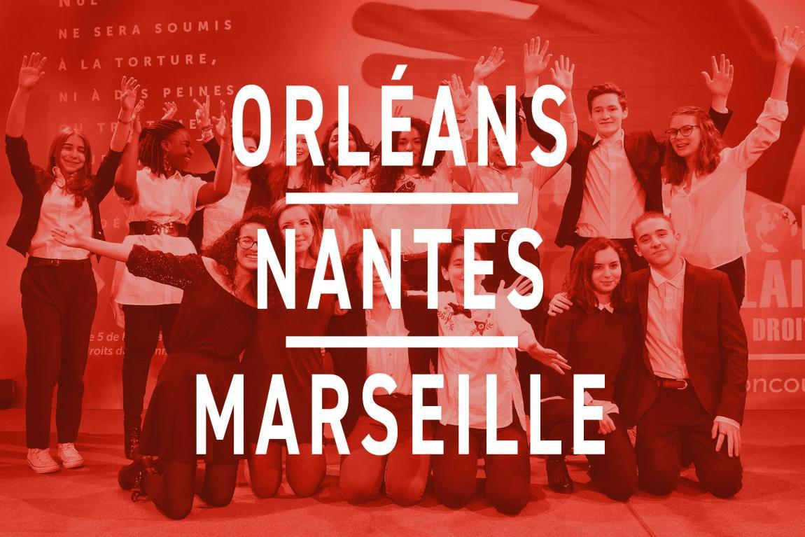 Les finalistes d'Orléans, Nantes, et Marseille