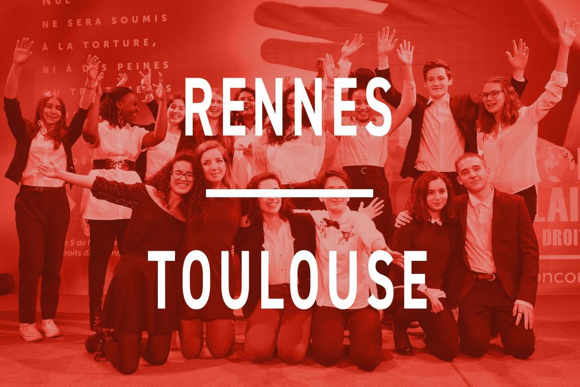 Les finalistes de Rennes et Toulouse