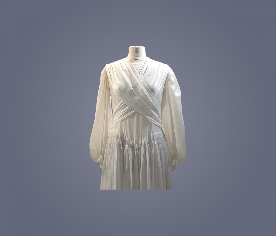 Robe de mariée en parachute